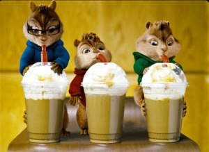 Alvin and the Chipmunks...this picture says it all...!