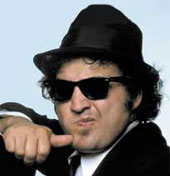 John Belushi in one of his most famous movies...The Blues Brothers!