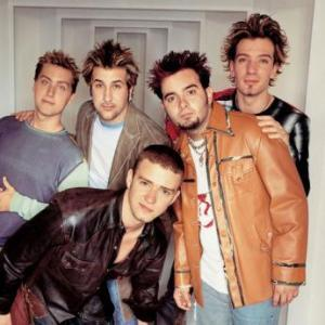 Timberlake back in the 1990s with N'Sync....scrumptious!