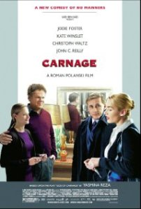 Carnage stars Christopher Waltz, John C. Reilly, Kate Winslet and Jodie Foster.....!