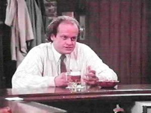 Kelsey Grammer as Frasier in Cheers which made him famous....!
