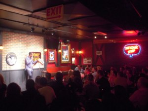 Chris Rock at the Comic Strip Club where he was discovered...!
