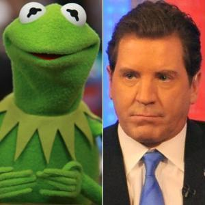 Kermit the Frog and Eric Bolling from Fox News in a War of Words