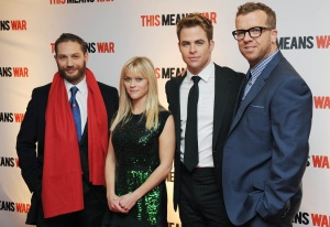 From left to right: Tom Hardy, Reese Witherspoon, Chris Pine and McG