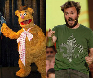 Fozzie Bear wants to kidnap Jack Black in the new movie!