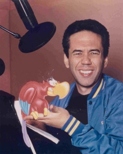 Gilbert was the voice of Iago in Aladdin!
