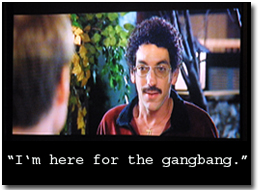 "Todd Phillips as the ""Gang Bang Guy"" in Old School"