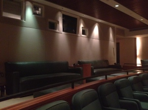 The Sony Screening Room is amazing!