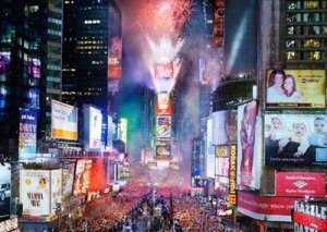 Times Square on New Year's Eve!