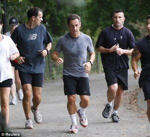 I was sweating almost as much as French President Sarkozy!