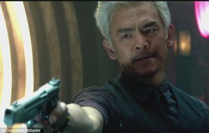 John Cho opposite Colin Farrell in the new Total Recall